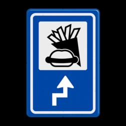 Routebord BW101 (blauw) - 1 pictogram met aanpasbare pijl BEW101, Snacken, Sporthoek, De Haven,