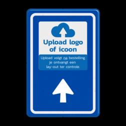 Bewegwijzering met LOGO BW101 + pijlfiguratie BEW101, LOGO, EIGEN PICTO, pictogram