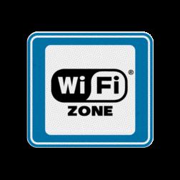 TBB WiFi-zone 119x109mm - klasse 3 Terreinbord, 119x109, BW101, WiFi, WiFi-zone
