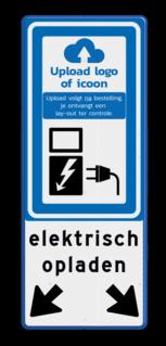 Verkeersbord RVV BW101_SP19 met tekst en logo