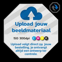 Informatiebord DOR octogonaal reflecterend + eigen opdruk octagonaal, stopbord, stop-bord, verkeersbord, eigen, ontwerp, logo