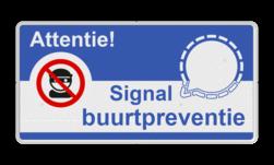 Product Buurtpreventiebord met de privacyvriendelijke berichtendienst van Signal Signal Buurtpreventie - Informatiebord basic Signal, buurtpreventie, privacy, preventie,