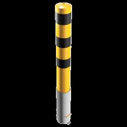 Rampaal Ø152x1500mm - 3,2mm staal + stalen afdekkap Stalen paal, anti kraak, aanrijbeveiliging, Rampaal, Afzetpaal, Ramkraak, Magazijn, Inrichting, Juwelier, Bank, Ramzuil, veilig, ram, Menhir, Beveiliging
