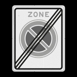 Verkeersbord Einde zone Verkeersbord RVV E02ze - einde zone verboden stil te staan E01zbe