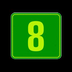 Product Huisnummersticker Container sticker Huisnummer Groen | Modern