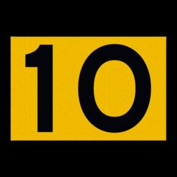 Scheepvaartbord Toepassing voor een doorvaarthoogte die groter is dan 9 meter bij normale omstandigheden. Een hoogteschaal plaatst men in principe aan de van een naderend schip gezien Scheepvaartbord BPR G.5.1 even - 1500x1000mm - Vlak G.5.1. water, brug, hoogte, waterweg, waterwegen, scheepvaarttekens, verkeerstekens