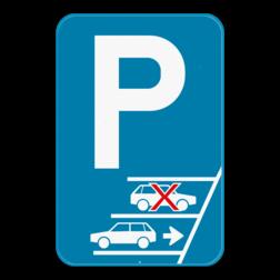 Parkeerbord - Opgelet achteruit inparkeren