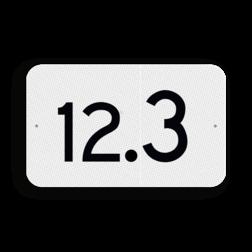 Hectometerbord Hectometer aanduiding Hectometerbord vlak schouwpad km 10 t/m 19 - RS - 330x200mm - Reflecterend KM RS-HM
