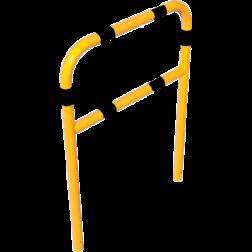 Beschermbeugel, Hek Ø60mm met tussenbuis Beugel, Aanrijdbeveiliging, Magazijn, Beveiliging, Wanden, Muren, Trappen, Steun, Steuning, Ondersteuning, Lat