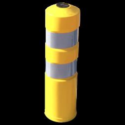 Plooibaken - geel Ø200 Plooibaken, flexibele, paal, baken, afzetpaal, kunststof