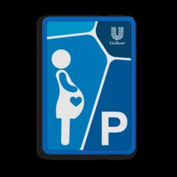 Informatiebord parkeerplaats zwangere vrouwen zwanger, pregnant, parkeerplek, vrouw, buik, unilever