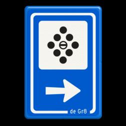Verkeersbord Poollokaal Verkeersbord RVV BW101_POOLBILJART de gr8, de gracht, biljart, poolen, lessenaar, vergaderen, workshop, BW101, SB2