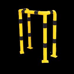 Beschermbeugel Ø76mm Grondmontage - Staal Aanrijdbeveiliging, Aanrijdbeugel, Beugel, Aanrijding, Beveiliging, Ram, Rambeugel, Aanrijdbescherming, Vangrail
