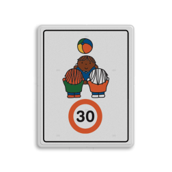 Dick Bruna - Attentiebord Snelheid - spelende kinderen - Multicultureel Nijntje, schoolzone, vvn, a1-30, Miffy, snelheid, maximale snelheid, 30 kilometer