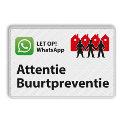 Verkeersbord L209f WhatsApp Buurtpreventie - 03 L209f Whats App, WhatsApp, watsapp, preventie, attentie, OV0495, L209, Buurt