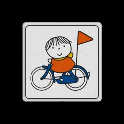 Dick Bruna - Attentiebord joep op de fiets Nijntje, vvn, school, schoolzone, Miffy, Dick Bruna, spelende kinderen