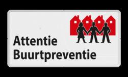 Verkeersbord L209a Attentie Buurtpreventie - 01 L209a Whats App, WhatsApp, watsapp, preventie, attentie, OV0495, L209, Buurt