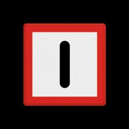 Scheepvaartbord Verplichting bijzonder op te letten. Aanbevolen wordt dit teken van een onderbord te voorzien. Indien een vaarwegversmalling, beperking van de waterdiepte of beperking van de doorvaarthoogte wordt aangegeven, is het nodig gebruik te maken van het betreffen de beperkingsteken (C-tekens) voorzien van een onderbord met toelichtende tekst, bijvoorbeeld: brugbouw. Scheepvaartbord BPR B. 8 - Verplicht bijzonder op te letten B. 8 B8, water, Let op!, pas op, attentie, gebodstekens, gebodsborden, waterweg, waterwegen, scheepvaarttekens, verkeerstekens,