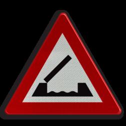 Verkeersbord A9: Beweegbare brug. Verkeersbord België A09 - Beweegbare brug A09 pas op, let op, brug