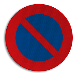 Verkeersbord E01: Parkeerverbod Verkeersbord België E01 - Parkeerverbod E01 niet parkeren, E1, Parkeerverbod, verboden te parkeren