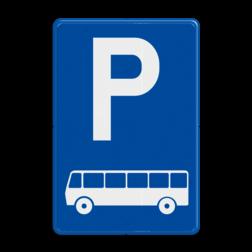 Verkeersbord E09d: Parkeren uitsluitend voor autocars Verkeersbord België E09d - Parkeren uitsluitend voor autocars E09d parkeerbord, bussen, autocars, E08d