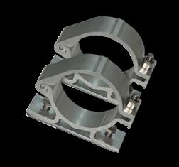 Bordbeugel  standaard (set 2 stuks) Ø60 mm beugelset, bevestiging