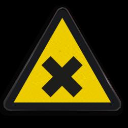 Product Gevaarlijke en irriterende stoffen (geen officieel NEN-EN-ISO pictogram) Waarschuwingssymbool Gevaarlijke en irriterende stoffen Waarschuwingssymbool, Waarschuwing, gevaarlijke, irriterend, stof