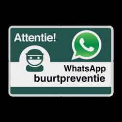 WhatsApp Buurtpreventie - Informatiebord basic - L209wa L209WA Whats App, WhatsApp, watsapp, preventie, attentie, buurt, L209, buurtpreventie, wijkpreventie, straatpreventie, dorpspreventie, België, Belgisch, Belgische,