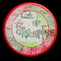 Informatiebord rond + full-colour opdruk logobord, eigen ontwerp, schoolplein, speciale borden