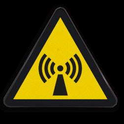 Product Gevaar voor niet-ioniserende straling Pictogram W005 - Gevaar voor niet-ioniserende straling W005 Storing, signaal, zender, zendmast, straal