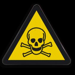 Product W016 - Gevaar voor giftige stoffen Pictogram W016 - Gevaar voor giftige stoffen Giftige, stoffen, chemisch, giftig materiaal, chemicaliën, gevaar