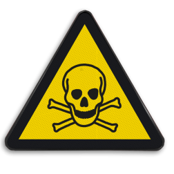 Product Gevaar voor giftige stoffen Pictogram W016 - Gevaar voor giftige stoffen W016 Giftige, stoffen, chemisch, giftig materiaal, chemicaliën, gevaar