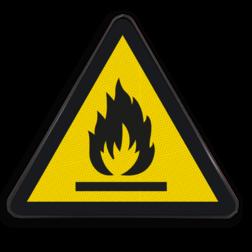 Product Gevaar voor ontvlambare stoffen of hoge temperatuur Pictogram W021 - Gevaar voor ontvlambare stoffen of hoge temperatuur W021 Brand, gevaar, vuur, ontvlambaar materiaal, brandgevaarlijk, gevaar voor ontvlambare stoffen of hoge temperatuur
