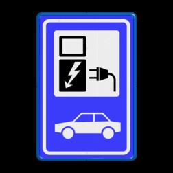 Verkeersbord RVV BW101_SP19 - auto laadpunt - BE02 Elektrische, groene stroom, BW101, oplaadpunt, auto laden, autolaadpunt, laadpaal, oplaadpalen, Oplaadpaal, BE04