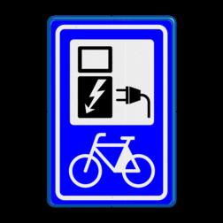 Verkeersbord Oplaadpunt elektrische fiets Verkeersbord RVV BW101_SP20 fiets-laadpunt - BE01 BE01 electrische, groene stroom, nieuw verkeersbord, BW101, fietslaadpunt, laadpunt, fietsen, oplaadpunt, laadpaal, oplaadpalen, oplaadbaar, ebike, bike, stalling, BE, BE03
