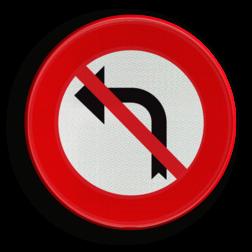 Verkeersbord C31g: Verbod aan het volgend kruispunt af te slaan in de richting door de pijl aangegeven Verkeersbord België C31g - Verbod aan het volgend kruispunt af te slaan in de richting door de pijl aangegeven C31g verbodsbord, verboden, pijl, rechts, afslaan