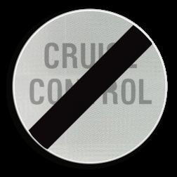 Verkeersbord C49: Einde verbod opgelegd door het verkeersbord C48. Verkeersbord België C49 - Einde verbod opgelegd door het verkeersbord C48 C49 verbodsbord, einde, cruise control, automatische piloot