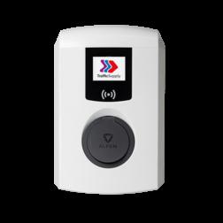 Eve Single Pro-Line met socket / 3,7 tot 22kW (1 of 3 fase) Laadstation, oplaadpaal, laadpaal, Alfen, ICU, Singel, S-line, oplader, elektrische auto, thuis, aan huis, laadpunt, oplaadpunt, laadsessie, registreren, registratie, autolaadpunt, laadpasje, RFID, type 1, type 2, back, office, laadstation, load, balancing, plug, charge