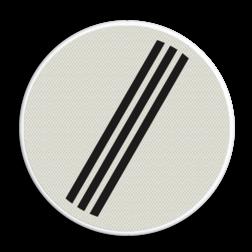 Verkeersbord Einde van alle door verkeersborden aangegeven verboden Verkeersbord RVV F08 - Einde alle verboden F08 einde verboden, F8, einde alle verboden