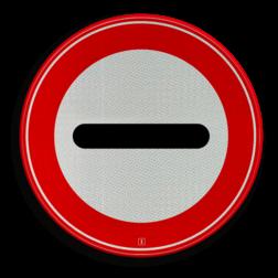 Verkeersbord STOP (in het bord kan worden aangegeven door wie of waarom het bord wordt toegepast) Verkeersbord RVV F10 - Stoppen / halthouden F10 verbodsbord, verboden, F10, STOP