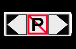 Scheepvaartbord Verboden ligplaats te nemen (ankeren en meren) met aan twee zijden een F2.a verwijzing (links/rechts) Zijborden of puntborden worden links of rechts aan een hoofdteken toegevoegd. Scheepvaartbord BPR A. 5 + F.2a links/rechts 1800x600mm aanmeren, schip, A5, aanleggen,, BPR, F2a, verbodstekens, verbodsborden, waterweg, waterwegen, scheepvaarttekens, verkeestekens, richting