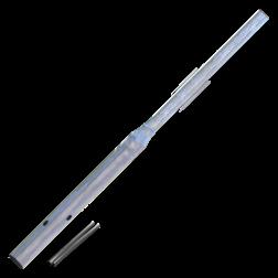 Flessenhalspaal 2500 mm boven de grond buispaal, flespaal, verkeersbordpaal, paal, paal met verjonging