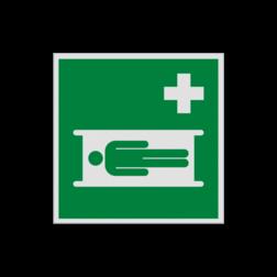 Product Brandcard Pictogram E013 - Brandcard E013 ongelukken, vervoeren, verwondingen, verwonde, ehbo, draagbed, vluchtroutebord, reddingsmiddelbord, evacuatie, evacuatiebord, veiligheidspictogram, veiligheidsbord, Nooduitgang pictogrammen, Vluchtrouteaanduiding, Verzamelplaats pictogram, Reddingspictogram, nooduitgang symbool, teken, icoon, symbolen, reddingsborden, bhv bord