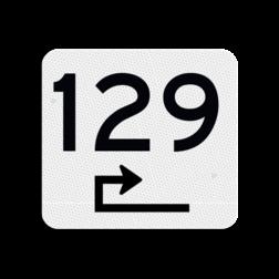 Huisnummerbord vlak 119x109mm - reflecterend klasse 3 Huisnummerbord, huisnummer, 119x109