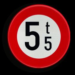 Verkeersbord C21: Verboden toegang voor voertuigen waarvan de massa in beladen toestand hoger is dan de aangeduide massa. Verkeersbord België C21 - Verboden toegang voor voertuigen waarvan de massa in beladen toestand hoger is dan de aangeduide massa C21 verbodsbord, verboden voor vrachtwagens, zwaar, c21