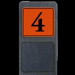 Huisnummerpaal met bord reflecterend 119x109mm buitengebied, huisnummer, nummer, huis, buiten, gebied, paal, Klassiek, huisnummerbord, Huisnummerpaal, Huisnummerpalen