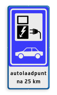 Verkeersbord RVV BW101_SP19 - auto laadpunt - txt - BE02a BE02a Elektrische, groene stroom, BW101, oplaadpunt, auto laden, autolaadpunt, laadpaal, oplaadpalen, Oplaadpaal, BE04