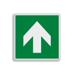 Product E005 - richting reddingsmiddel Vluchtroute bordje E005 - richting reddingsmiddel Pijl, links, wijzend, pijlen, vluchtroutebord, reddingsmiddelbord, vluchtroutebord, reddingsmiddelbord, evacuatie, evacuatiebord, veiligheidspictogram, veiligheidsbord, Nooduitgang pictogrammen, Vluchtrouteaanduiding, Verzamelplaats pictogram, Reddingspictogram, nooduitgang symbool, teken, icoon, symbolen, reddingsborden, bhv bord