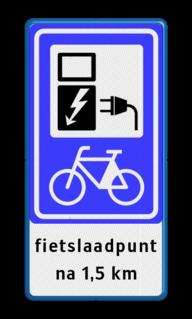 Verkeersbord RVV BW101_SP20 fiets-laadpunt - txt - BE01a BE01a electrische, groene stroom, nieuw verkeersbord, BW101, fietslaadpunt, laadpunt, fietsen, oplaadpunt, laadpaal, oplaadpalen, oplaadbaar, ebike, bike, stalling, BE, BE03