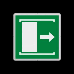 Product E033 - Deur naar rechts schuiven om te openen Vluchtroute bordje E033 - Deur naar rechts schuiven om te openen Open, schuifdeur, openen, rechts, vluchtroutebord, reddingsmiddelbord, vluchtroutebord, reddingsmiddelbord, evacuatie, evacuatiebord, veiligheidspictogram, veiligheidsbord, Nooduitgang pictogrammen, Vluchtrouteaanduiding, Verzamelplaats pictogram, Reddingspictogram, nooduitgang symbool, teken, icoon, symbolen, reddingsborden, bhv bord